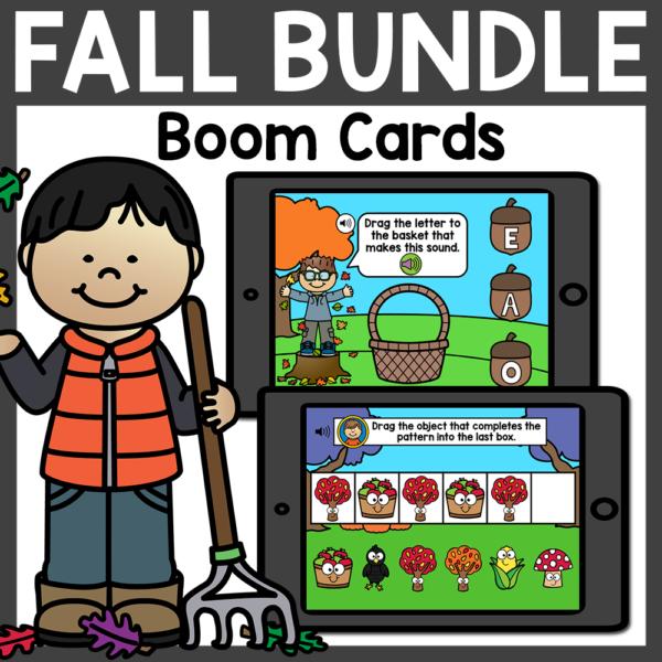 Fall Kindergarten Boom Cards Bundle Distance Learning