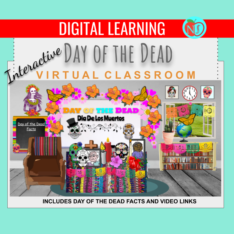 Bitmoji Classroom | Day of the Dead THEME | 6 Slides | Facts