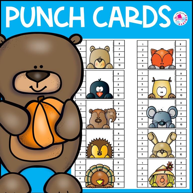 Fall Punch Cards Behavior Management