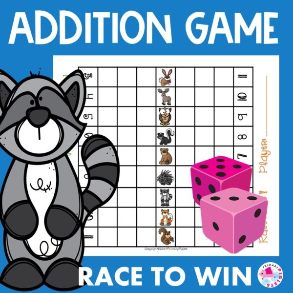 Addition Game Woodland Animals