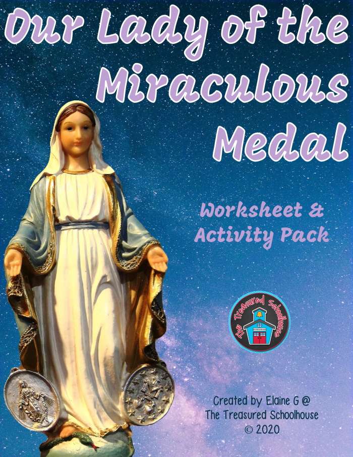 Our Lady of the Miraculous Medal Worksheet and Activity Pack