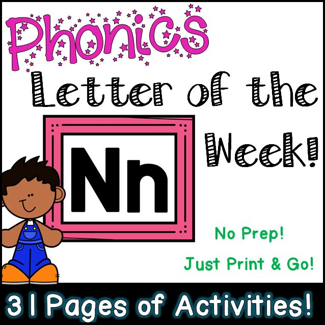 Phonics Letter of the Week - Letter Nn Activity Pack