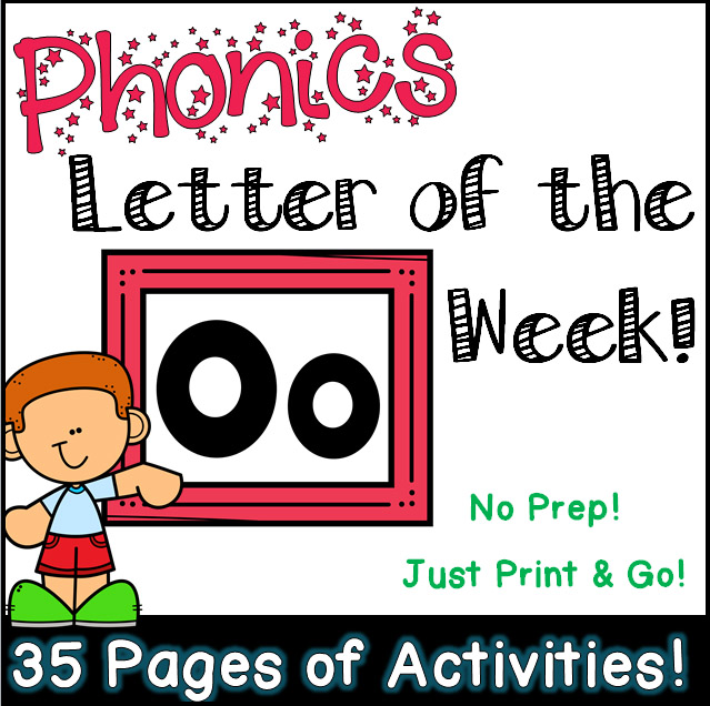 Phonics Letter of the Week - Letter Oo Activity Pack