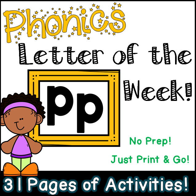 Phonics Letter of the Week - Letter Pp Activity Pack