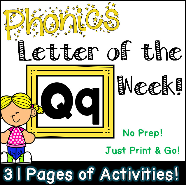 Phonics Letter of the Week - Letter Qq Activity Pack