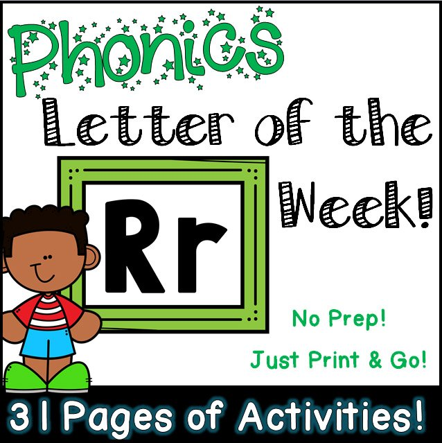 Phonics Letter of the Week - Letter Rr Activity Pack