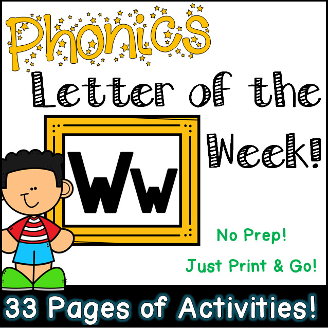 Phonics Letter of the Week - Letter Ww Activity Pack