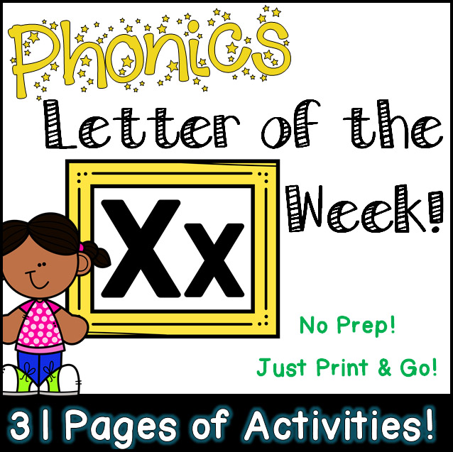 Phonics Letter of the Week - Letter Xx Activity Pack