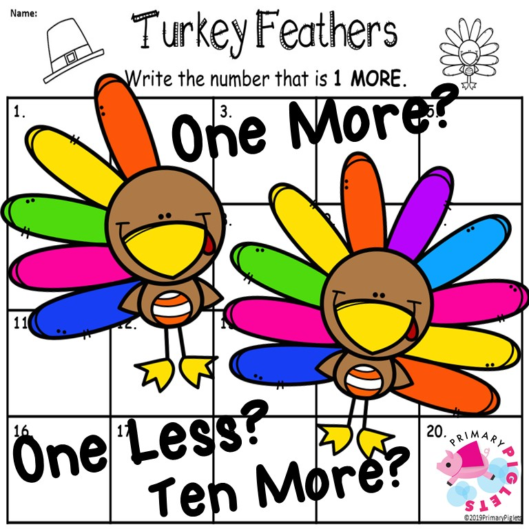 Thanksgiving Math Center Addition and Subtraction