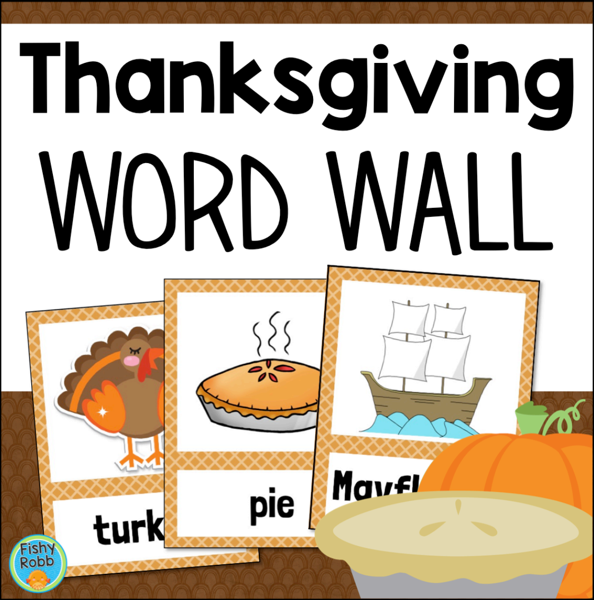 Thanksgiving Word Wall Vocabulary Cards