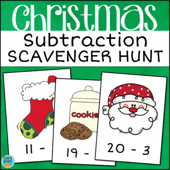 Subtraction Within 20 Christmas Scavenger Hunt Activity