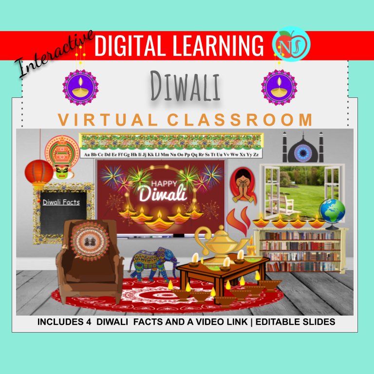 Bitmoji Classroom | Diwali | 6 Slides | FACTS | VIRTUAL CLASSROOM