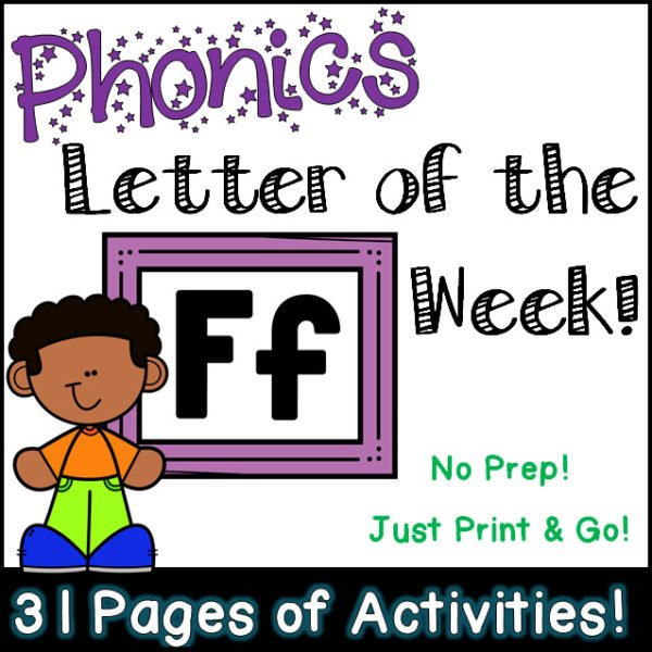 Phonics Letter of the Week - Letter Ff Activity Pack