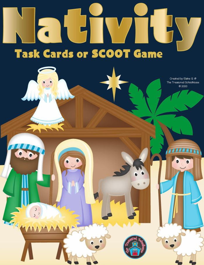 Nativity Task Cards or SCOOT Game