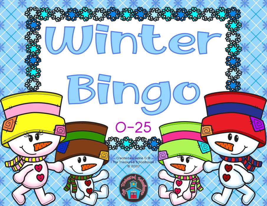 Winter 0-25 Bingo