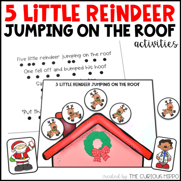 5 Little Reindeer Jumping on the Roof