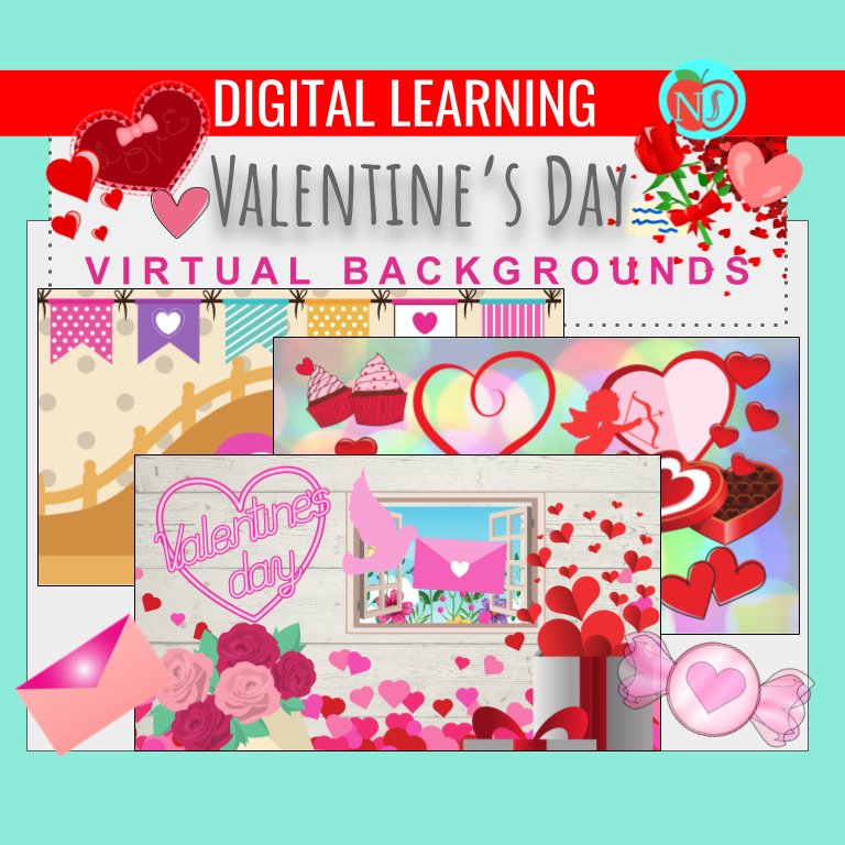 Valentine's Day Virtual Backgrounds | 15 ZOOM VALENTINE'S DAY BACKGROUDS