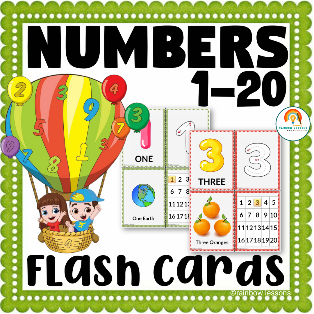 Numbers 1-20 Flash Cards