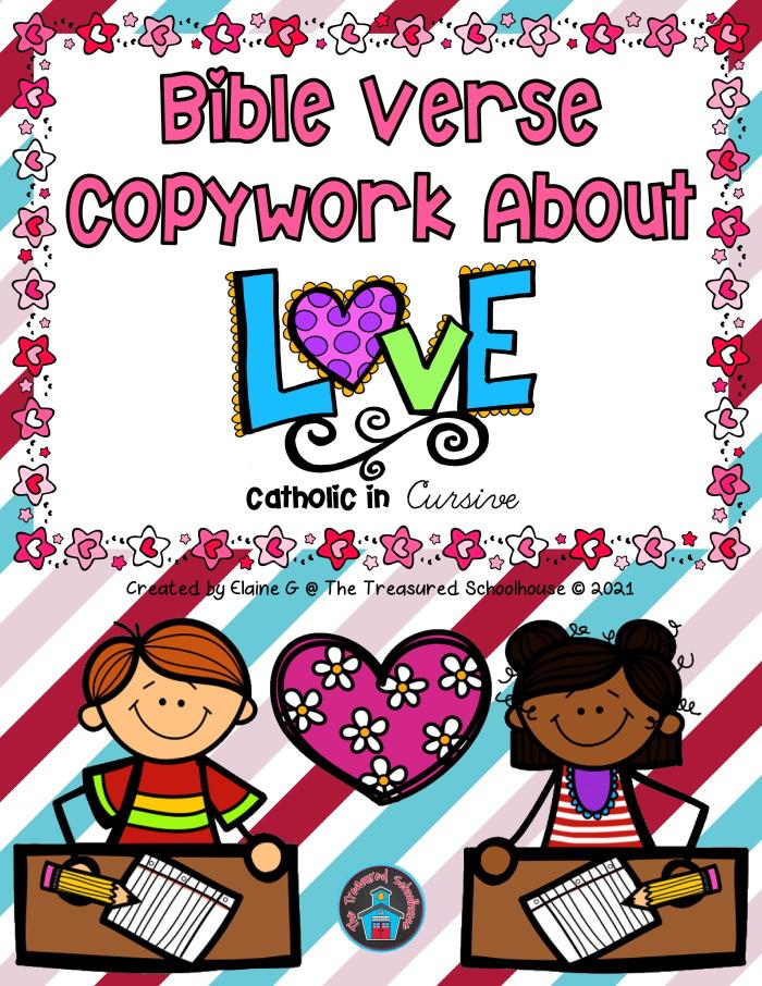 Bible Verse Copywork About Love in Cursive