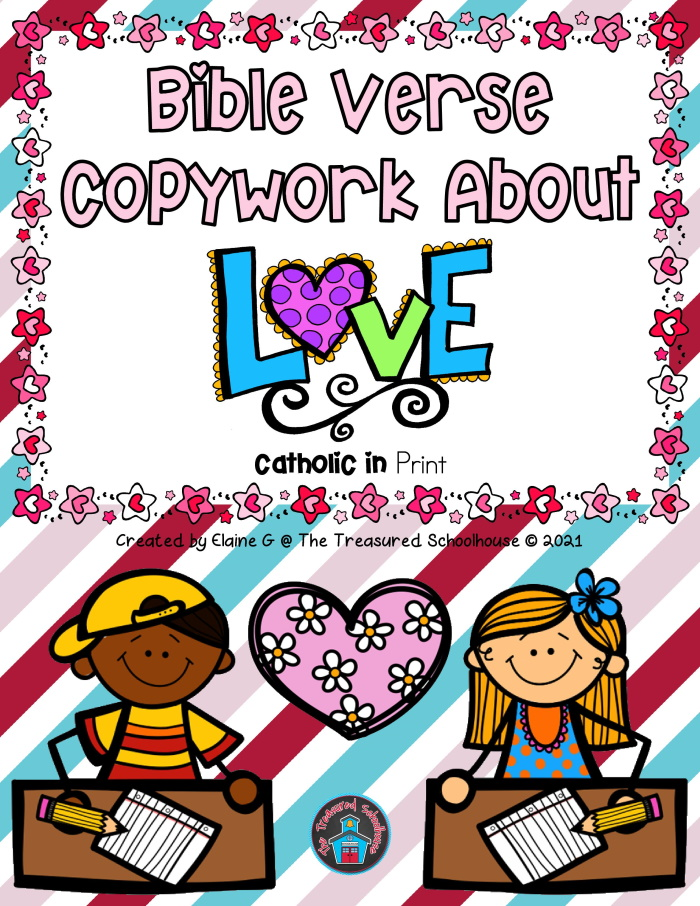 Bible Verse Copywork About Love in Print