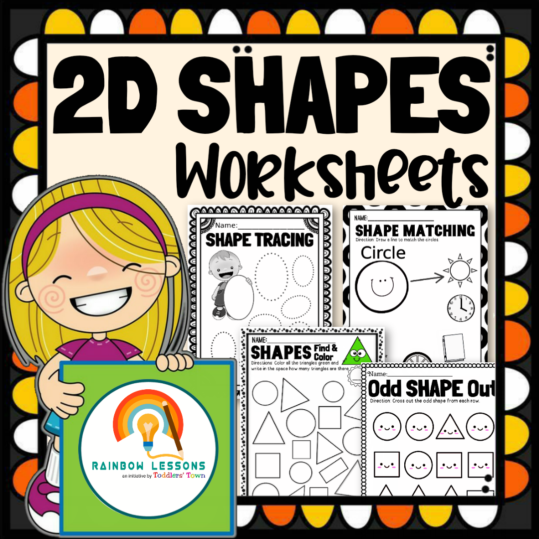 2D Shapes Worksheets Kindergarten