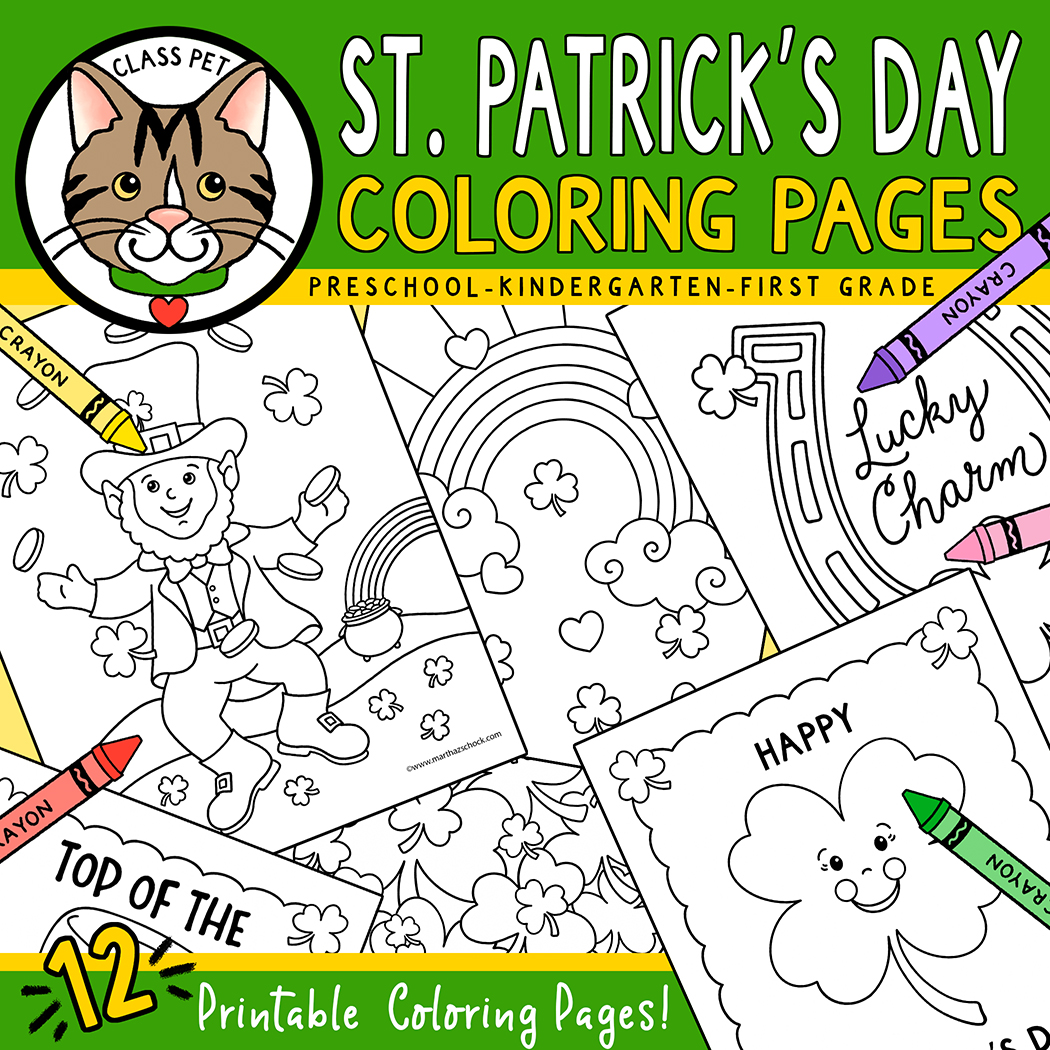 St. Patrick's Day Coloring Workbook