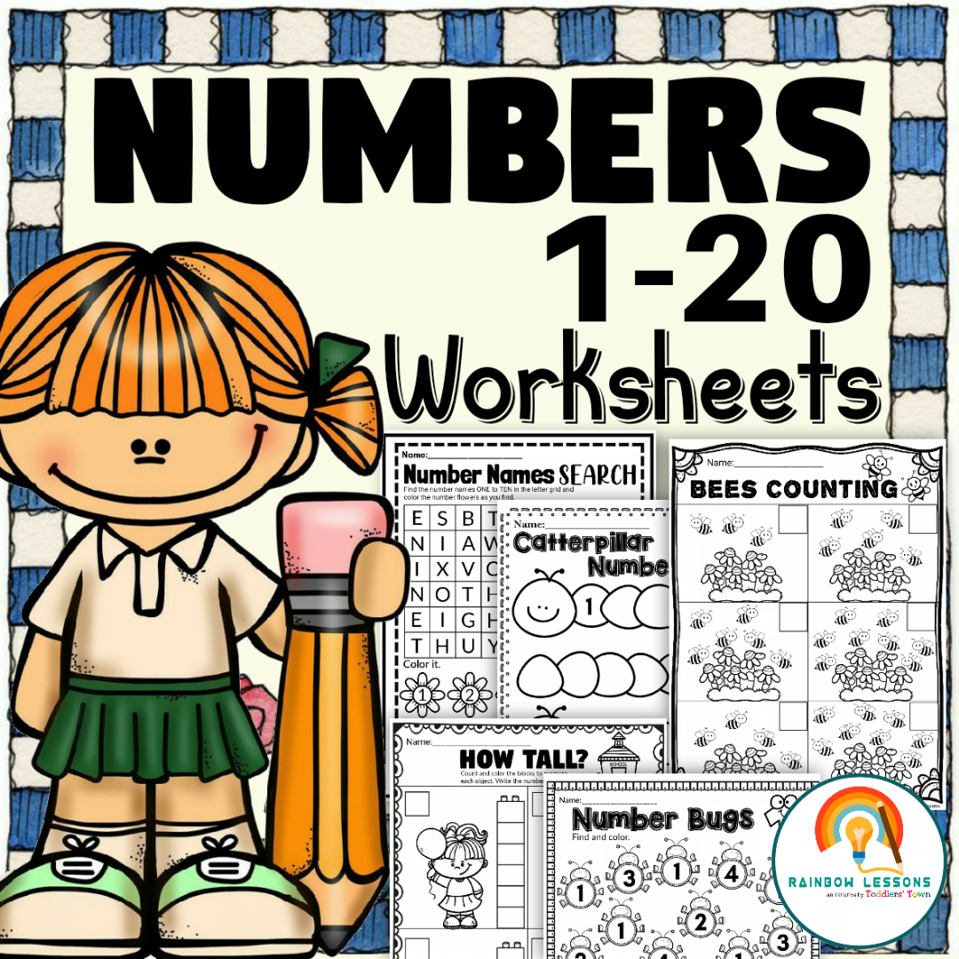 Numbers 1-20 Worksheets