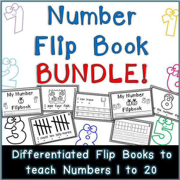 Number Flip Books Printable Worksheets