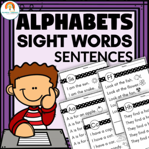 Alphabet Sight Words Sentences Worksheets