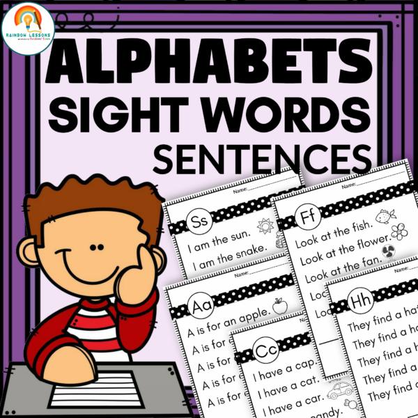 Alphabet Sight Words Sentences Worksheets
