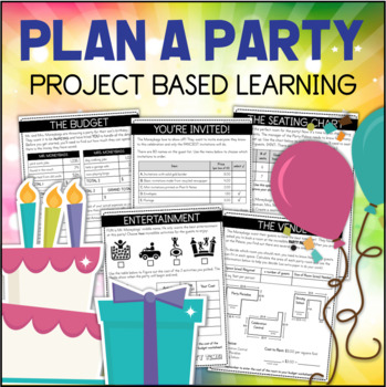 PLAN A PARTY Project Based Learning PBL Math
