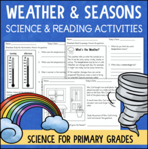 Weather and Seasons Reading Science Activities Worksheets