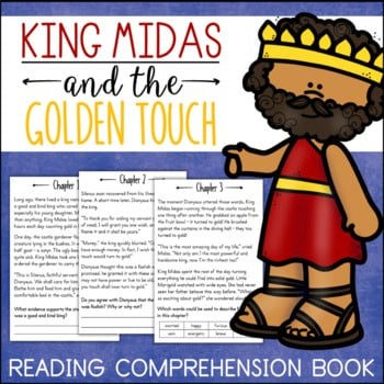 King Midas THE GOLDEN TOUCH Comprehension