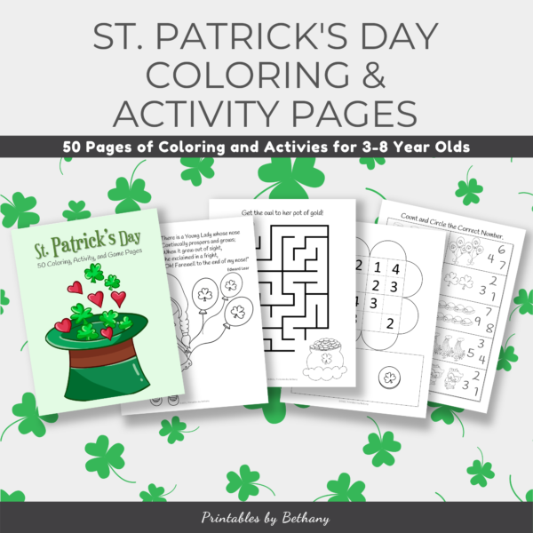 St. Patrick's Day Coloring Worksheets