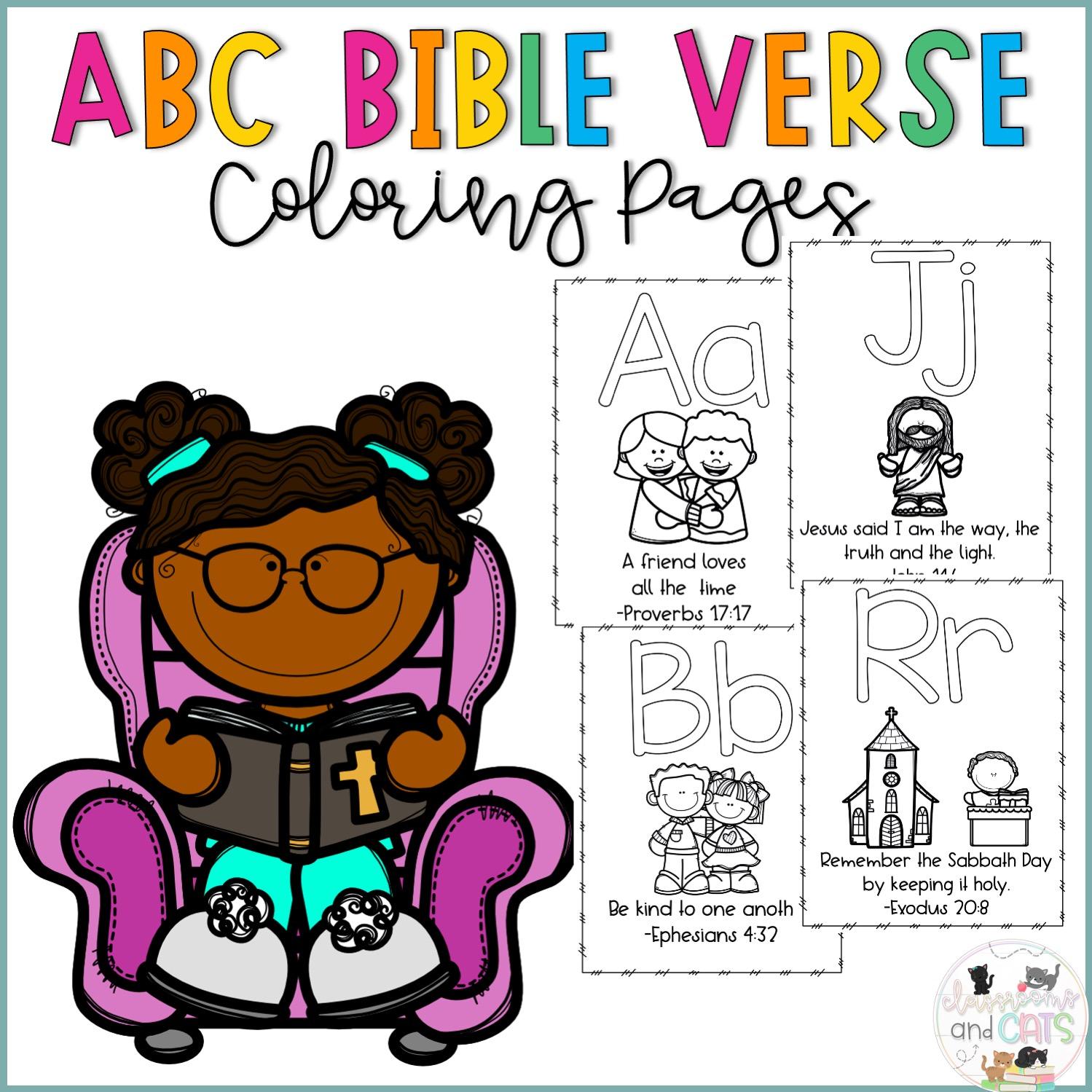 Alphabet Bible worksheets