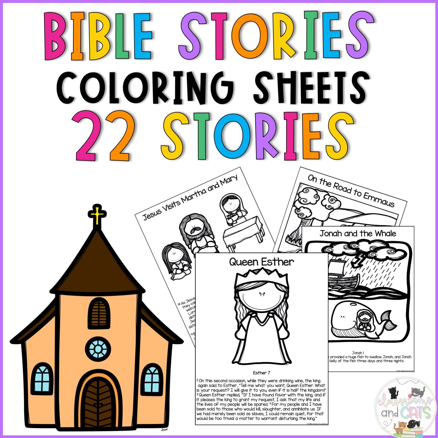 Bible Story Coloring Printable Worksheets