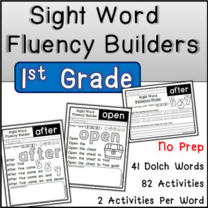 Sight Word Fluency Builders (Dolch First Grade)