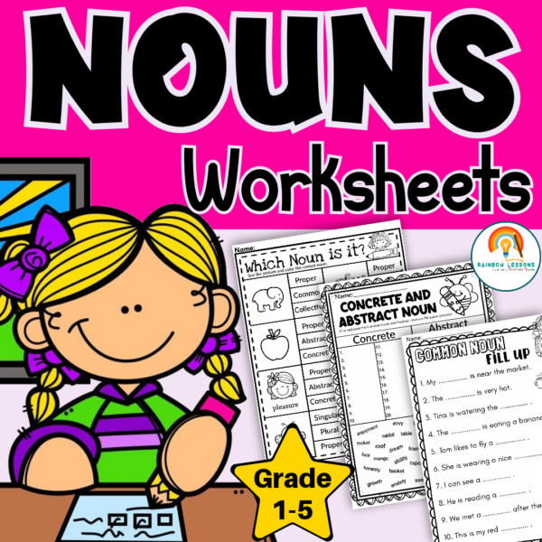Common versus Proper Nouns Worksheets