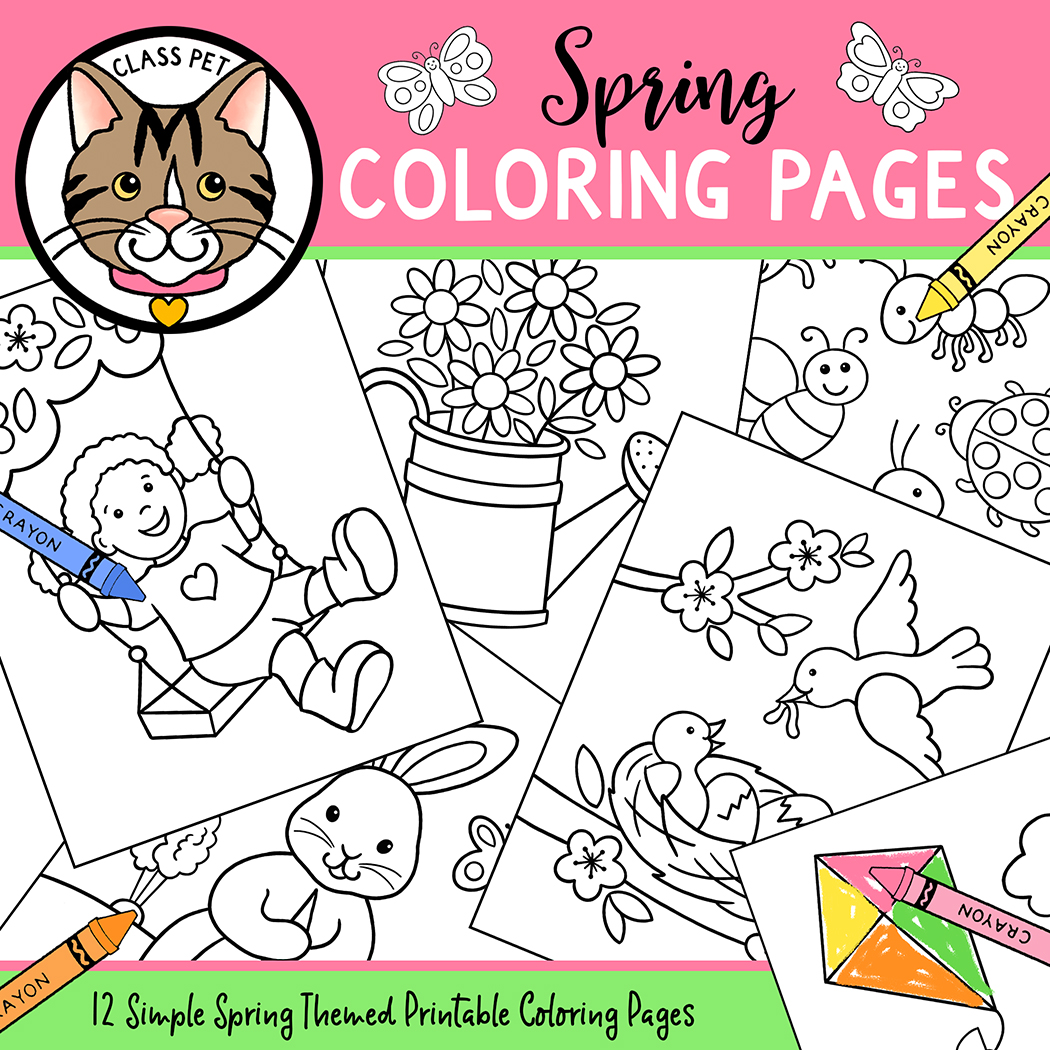 Original Spring Coloring Pages