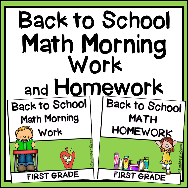 1st Grade Math for Back to School