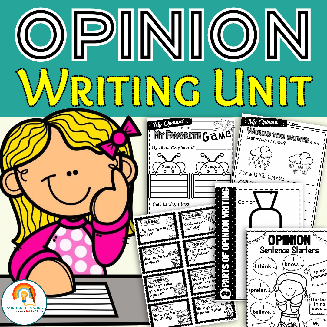 Opinion Writing Worksheets for 1st to 3rd - Printable PDF