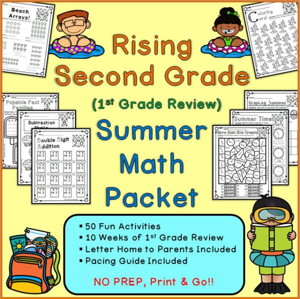 Printable Summer Math Packet 1st Grade