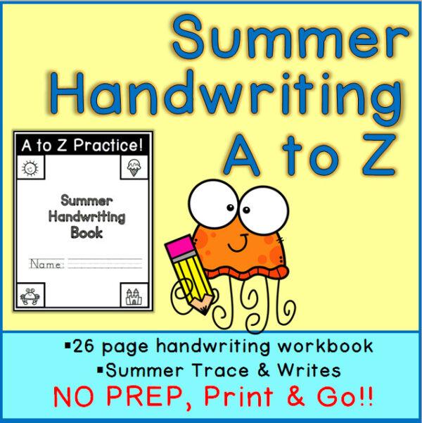 Printable Summer Handwriting