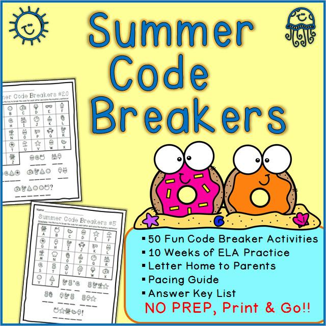 Summer Code Breaker Activities Printable