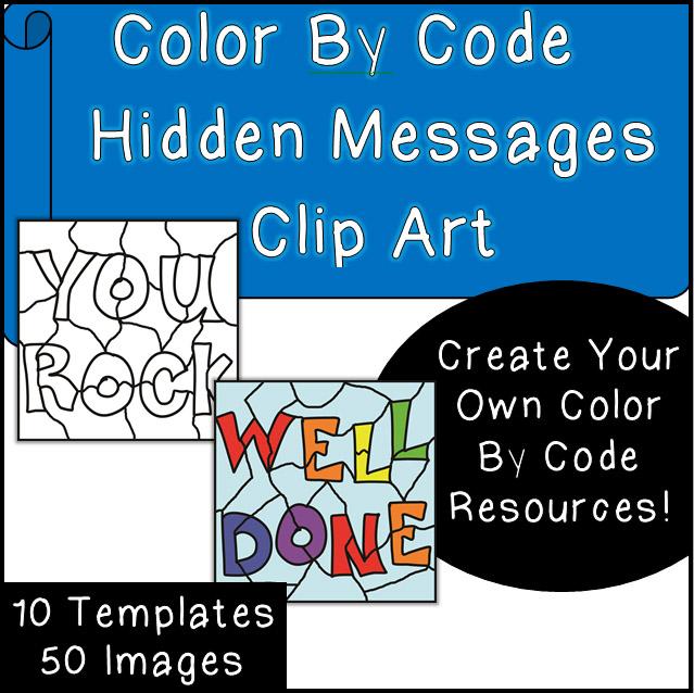 Color By Code Clip Art - Hidden Messages