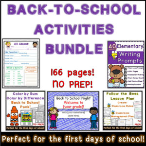 Back to School Printable Worksheets and Activities