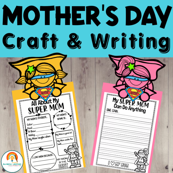 Mother's Day Craft and Writing Printable
