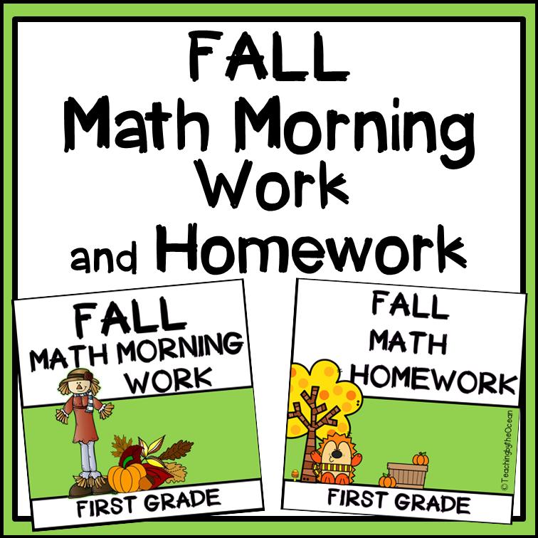 1st Grade Math Morning Work | Math Homework