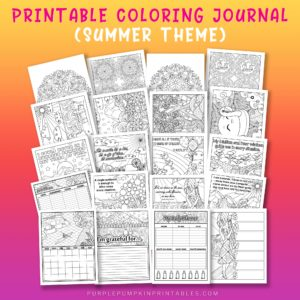 Amazing printable summer planner to color