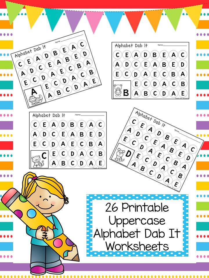 Alphabet Dab it Printable Worksheets